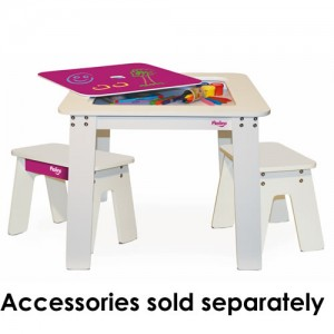 Mastermind Toys P'kolino Pink Chalk Storage Table with 2 Stools Gift Guide