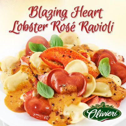 Blazing Hearts Lobster Rose Ravioli
