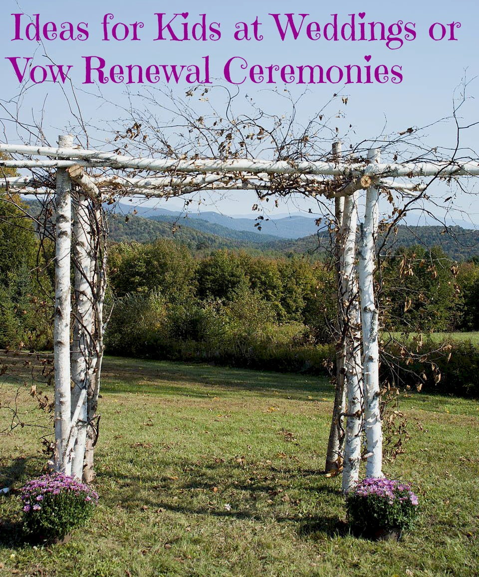 ideas for kids at weddings or vow renewal ceremonies | tales of a