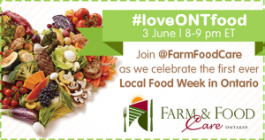 #loveONTfood Twitter Party June 3rd-8PM ET