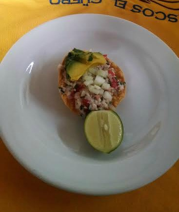 taco with lime