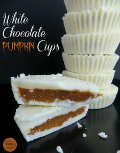 Tasty White Chocolate Pumpkin Cups