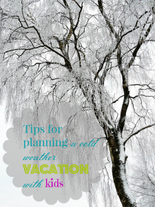 Tips for planning a cold weather vacation with kids
