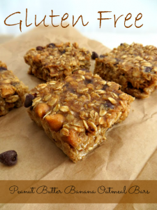 Gluten Free Peanut Butter Banana Oatmeal Bars recipe