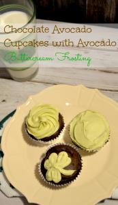 chocolate avocado cupcakes