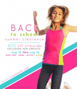 Limeapple Canadian Girl's Lifestyle Clothing Brand Back to School sale