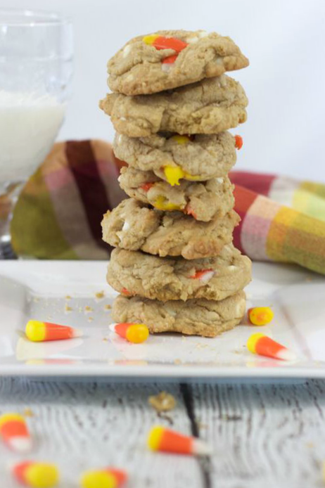 candy-corn-cookies-milk