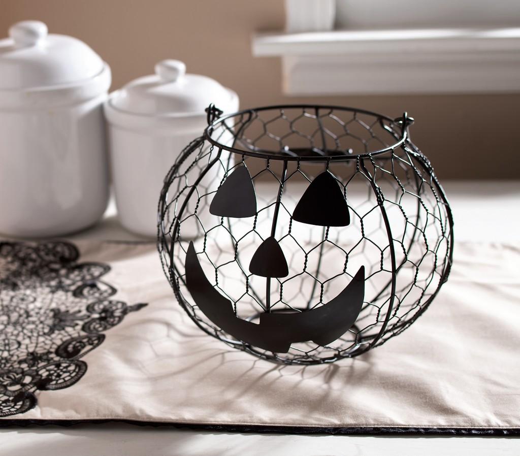 Jack-o'-Lantern Wire Basket $12.95
