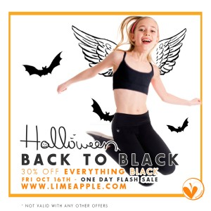 Back to Black Limeapple Halloween sale (1 day only)