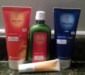 Weleda Arnica Body Care Recovery Collection and Mens Shower Gel