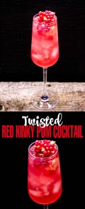 Twisted Red Kinky Pom Cocktail