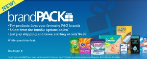 Try the P&G brandPACK Today (Sampler) #PGMom