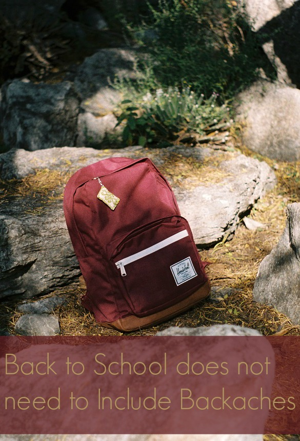Back to School does not need to Include Backaches