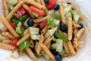 Summer fresh pasta salad with Chickapea