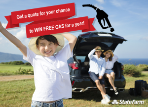 STATE FARM: GET A QUOTE AND WIN FREE GAS FOR A YEAR