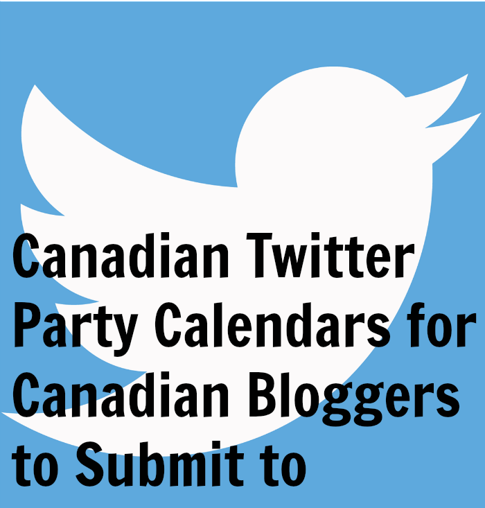 Canadian Twitter Party Calendars