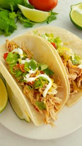 Crock Pot Shredded Chicken Tacos