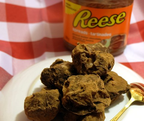 Chocolate Peanut Butter Cheesecake Truffles