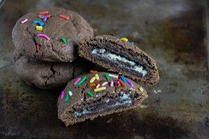 Stuffed OREO cookies