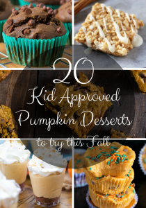 20 Kid Approved Pumpkin Desserts to try this Fall