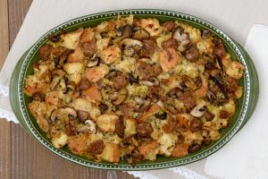 Mushroom, Leek & Turkey Sausage Stuffing Recipe #CdnTradition (Giveaway)