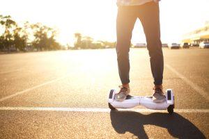 balancing a hoverboard