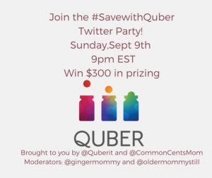 Save Money with Quber #SavewithQuber Twitter Party